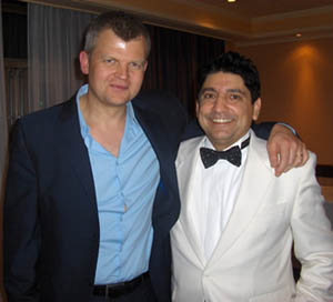 Frankie Roma with BBC's One Show host Adrian Chiles